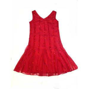 NEW Blush Us Angels Red Sequin Girls Holiday Dress